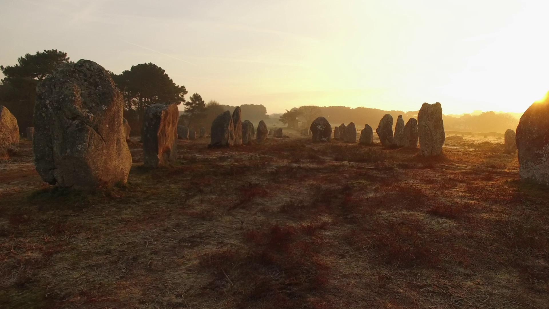 Carnac-Sunrise on the Megaliths-Kermario